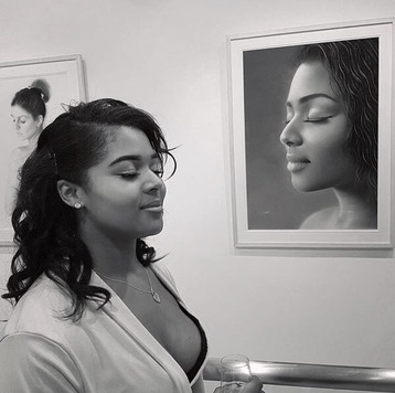 Kerry Beckford with her Interlude Drawing