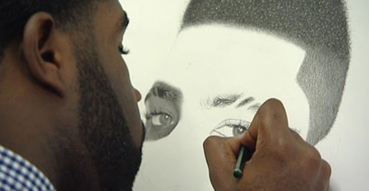 Kelvin Demonstrating his Drawing Techniques